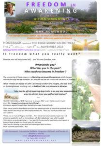 FREEDOM IN AWAKENING (Hogsback) @ The Edge Mountain Retreat, Hogsback
