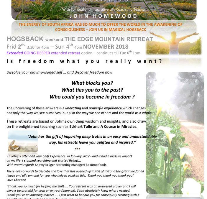 FREEDOM IN AWAKENING (Hogsback)